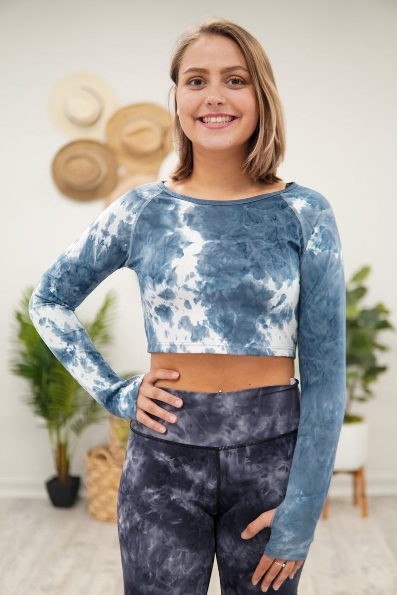 Acid Long Sleeve Cropped Top