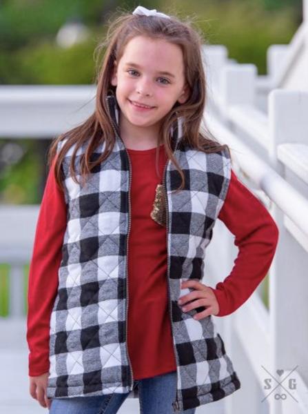 Girls' Basically A Lumberjack Vest