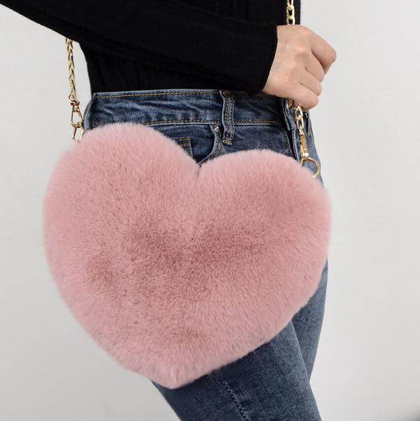 Plush Heart Bag