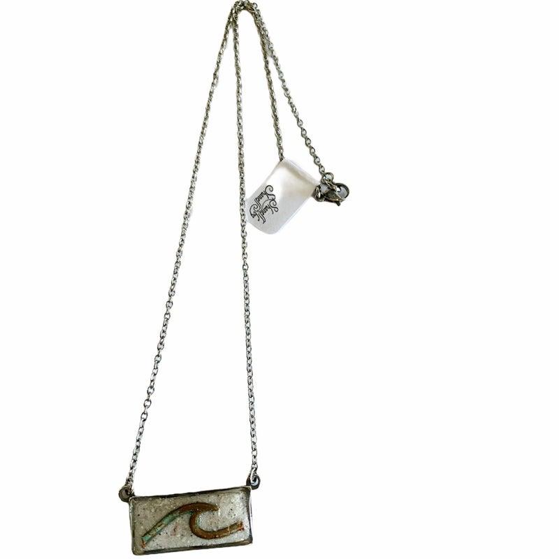 Copper Wave Sand Bar Necklace