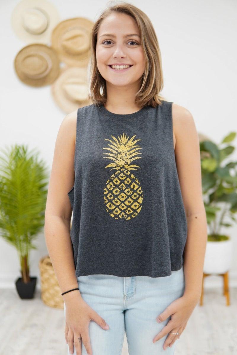 Sassy Pineapple Tank Top