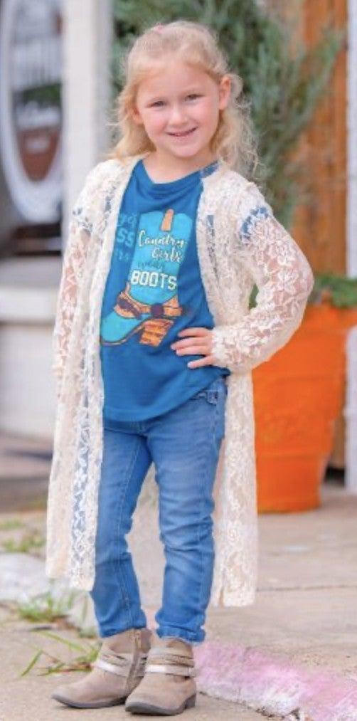 Just Like Moms' Lace Kimono