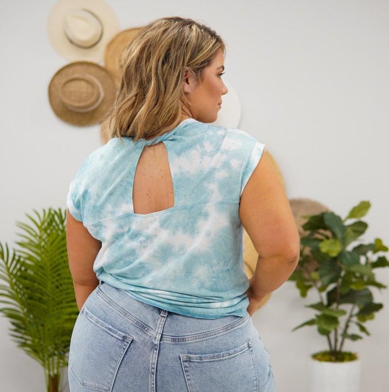 Peep The Back Tie Dye Top