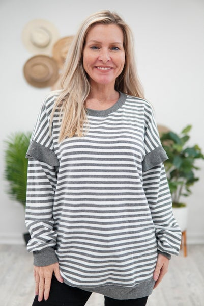 Stripes With Flare Long Sleeve Tee