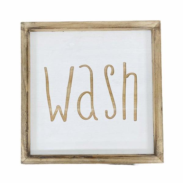 Wash Wood Sign