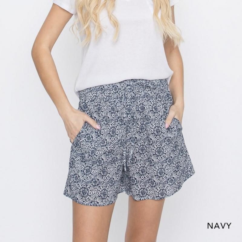 Boho Smocked Shorts