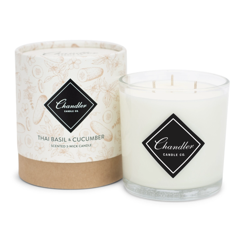 Chandler Candle Co Thai Basil Cucumber 3-Wick Candle