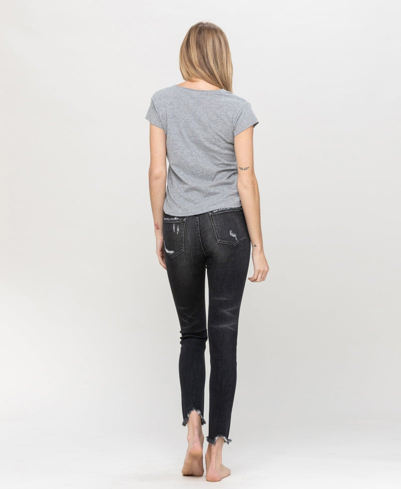 TAKEOVER- Allie Distressed High Rise Jeans