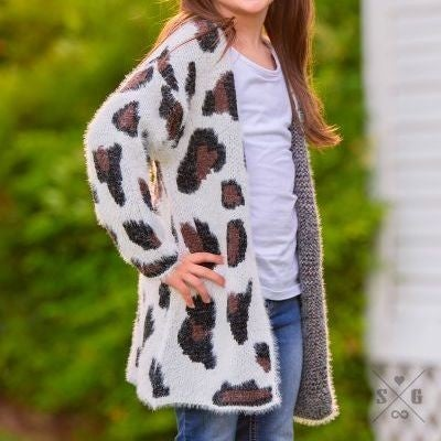 Girls' Snow Catimal Cardigan