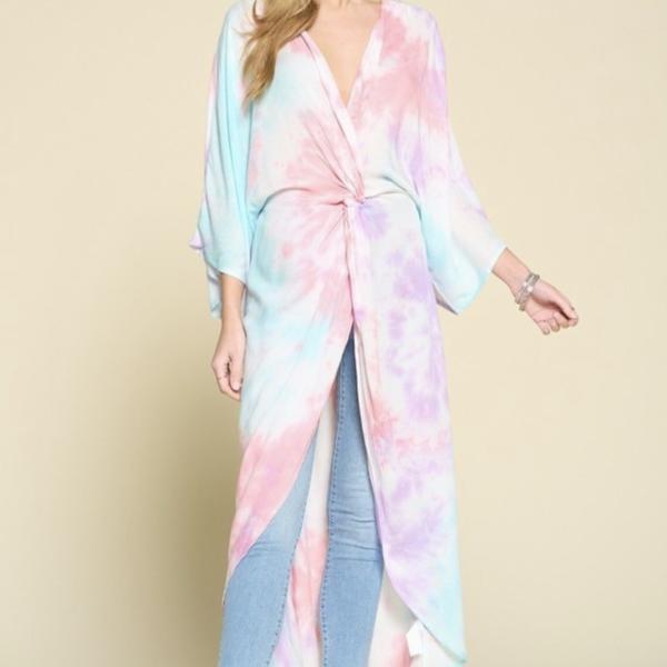 Tie Dye Twisted Kimono