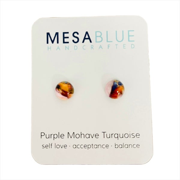 Mojave Copper Round Earrings