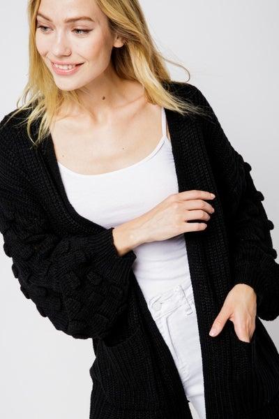 Bubble Sleeve Beauty Cardigan
