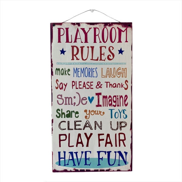 Playroom Rules Wall Decor