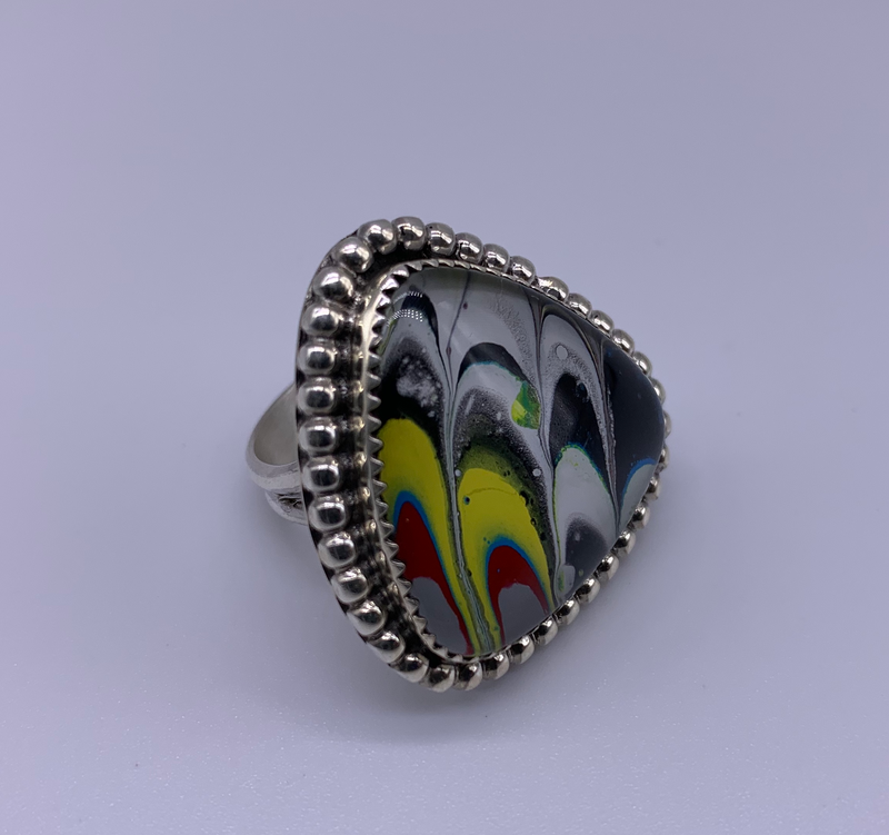 M&S Abstraction Detroit Agate Ring