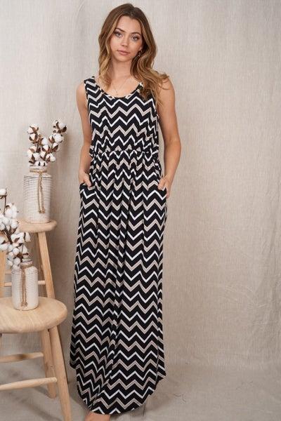 Chevron Cutie Maxi Dress