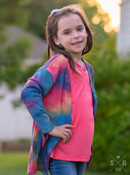 Kids' Tie Dye Cardigan