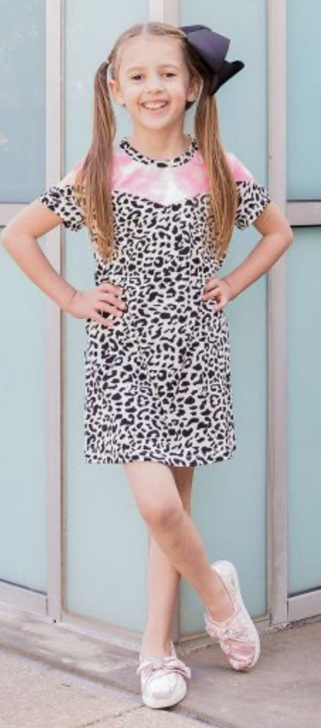 The Sassy Leopard Girls Dress