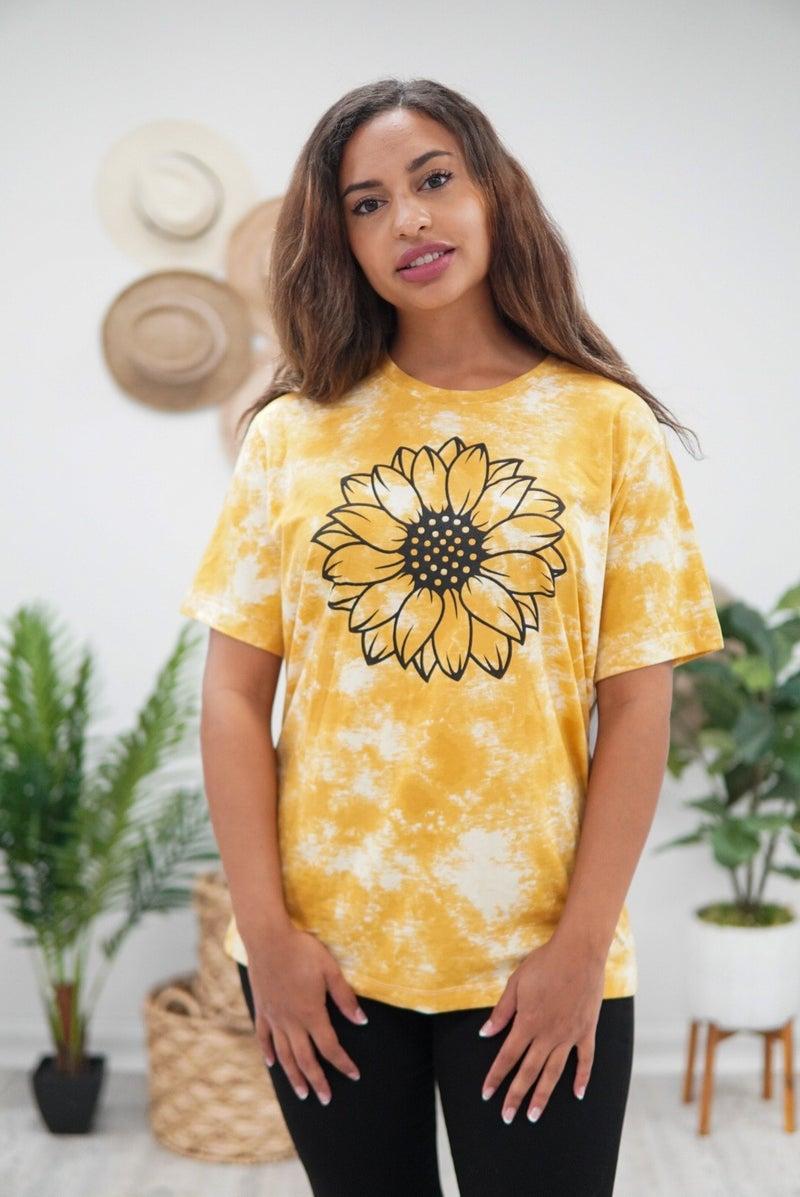 Boho Sunflower Top