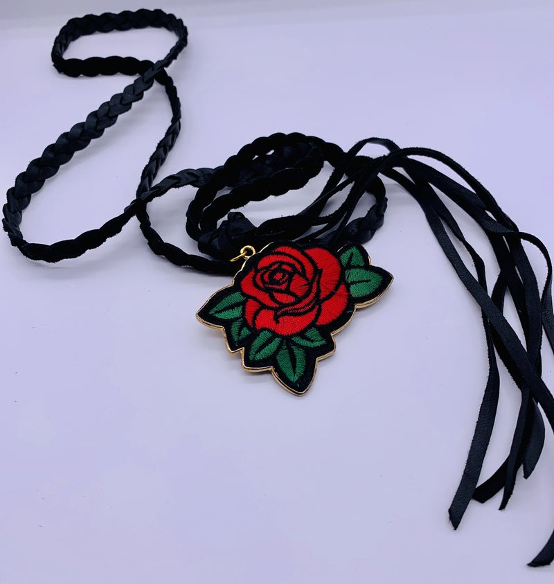 Rose Braided Necklace