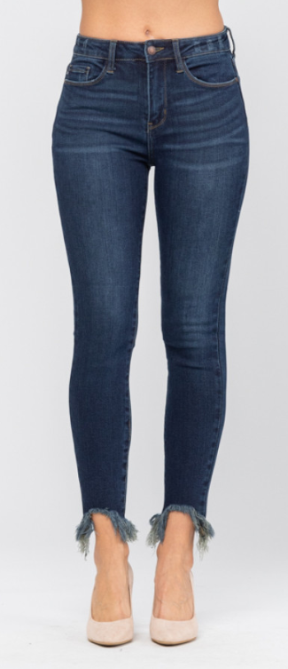 Judy Blue Shark Bite Skinny Jeans