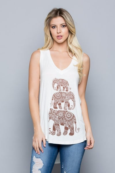 Elephant March Tank Top *Final Sale*
