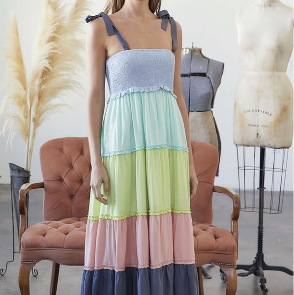 Tied And Tiered Dress
