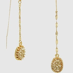 Dripping Gold & Druzy Earrings