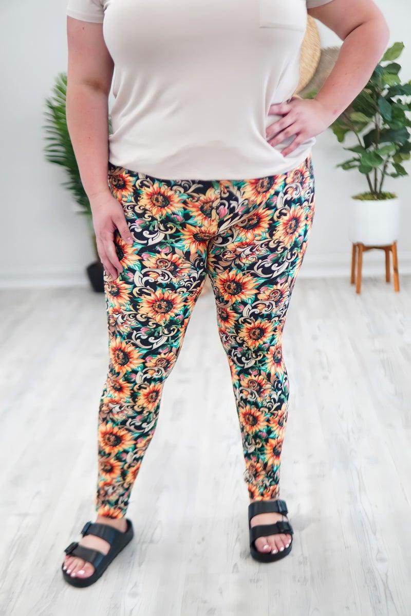Stunning Sunflower Leggings