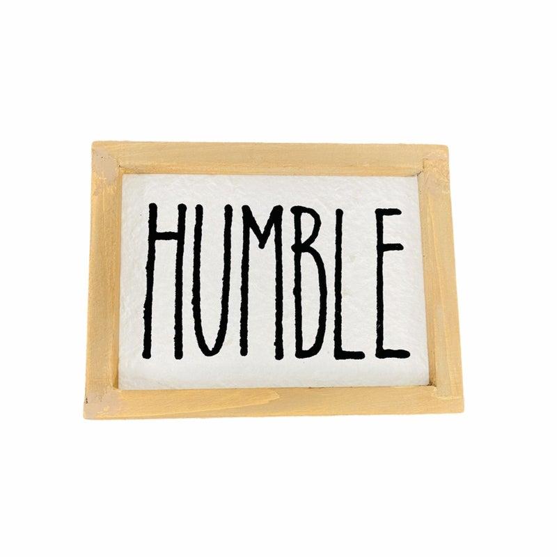 Humble Wood Sign