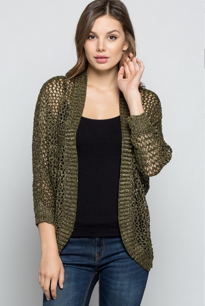 Caught in a Net Cardigan