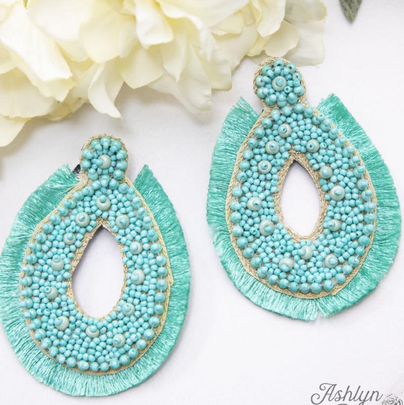 Merry Macrame Earrings
