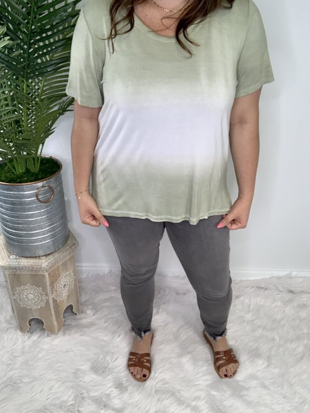 Gray distressed Ankle Jeans *Final Sale*