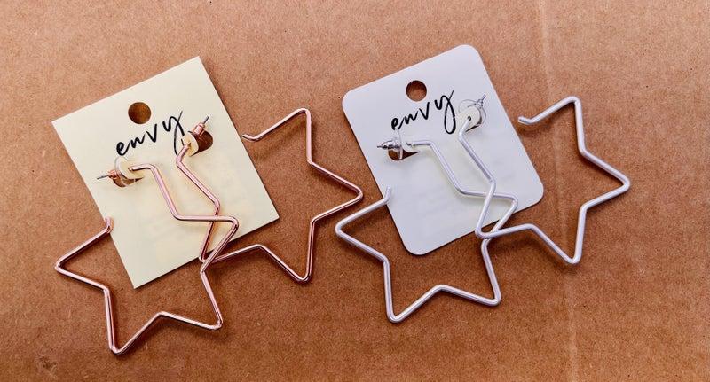 Star Hoops Earrings