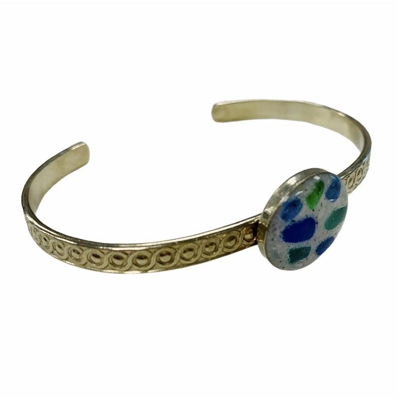 Sea Glass Beach Sand Cuff Bracelet