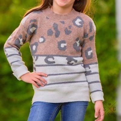 Girls' Spots & Stripes Sweater