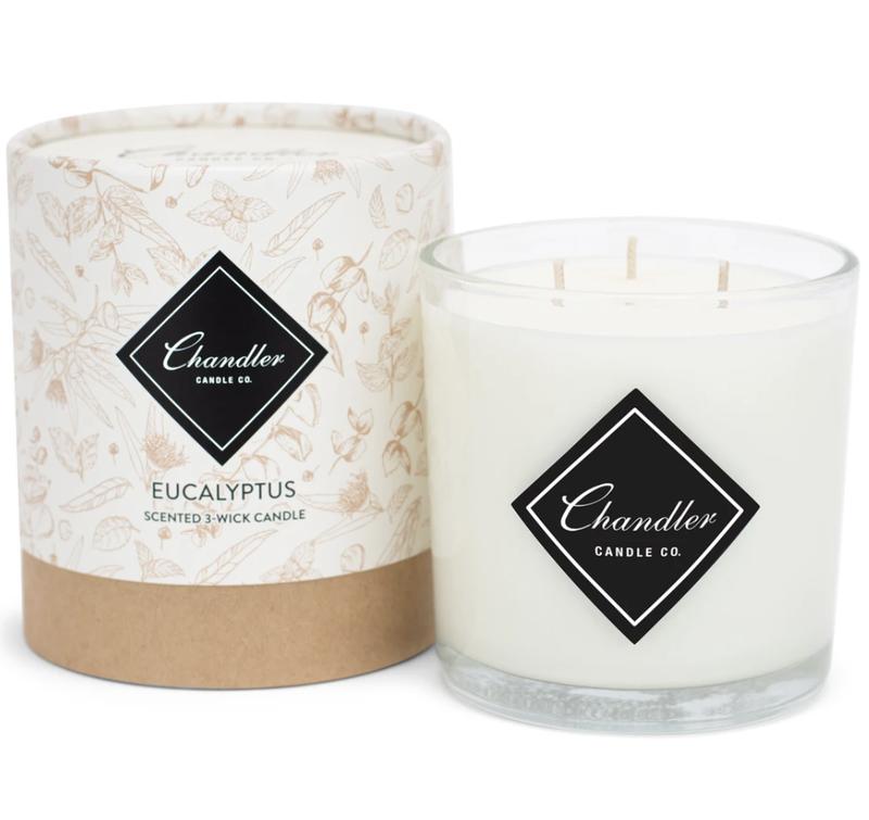 Chandler Co. Eucalyptus 3-Wick Candle
