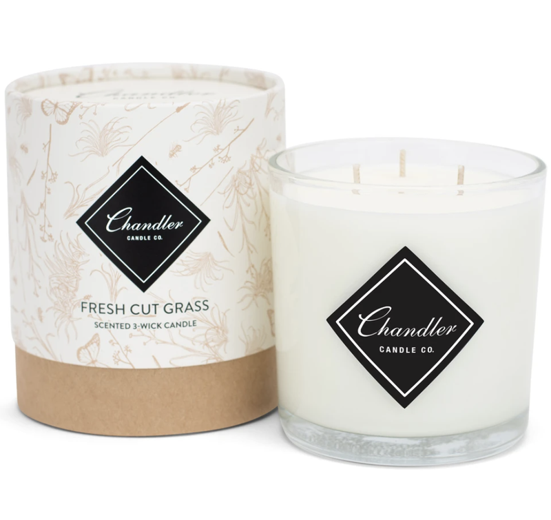 Chandler Co. Fresh Cut Grass 3-Wick Candle