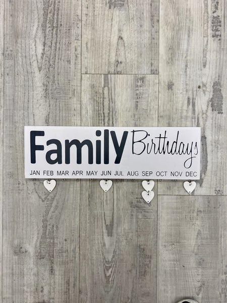 Family Birthday Wood Hanging