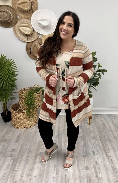 Not So Basic Striped Cardi