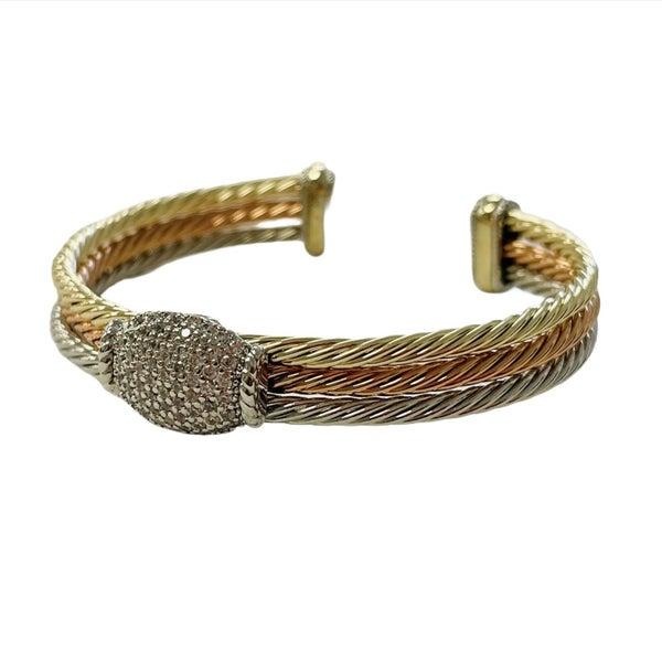 Three Tone Hinge Bracelet