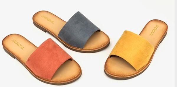 Single Strap Slip-On Sandal