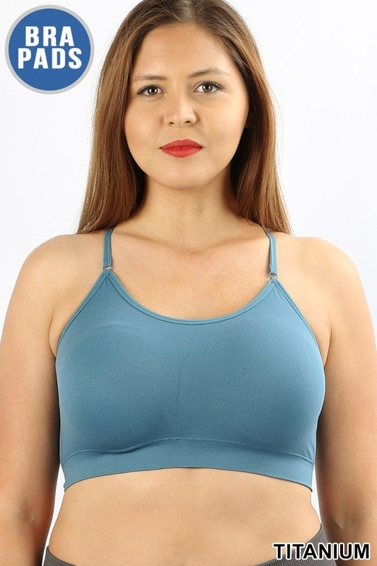 Sweet Seamless Cross Back Padded Bralette