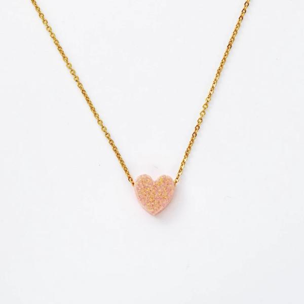 Milky Way Necklace - Peach Opal