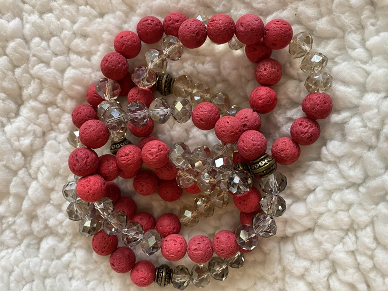 Lava Diffuser Beaded Bracelets