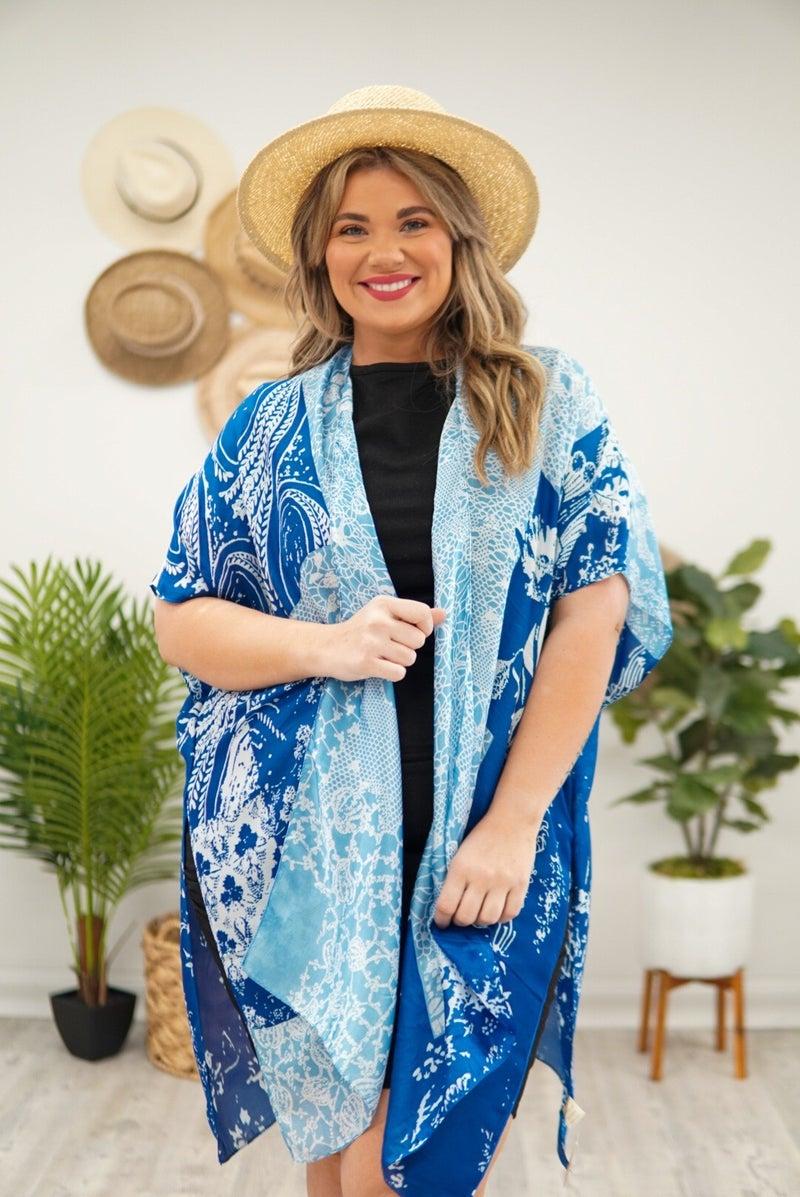 Pretty Floral Satin Kimono