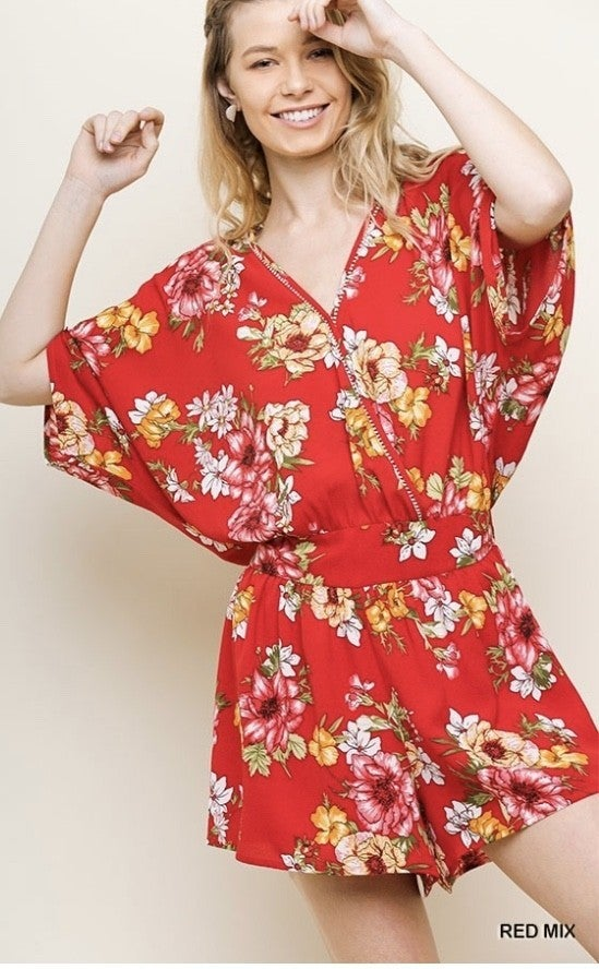 The Lovely Floral Romper *Final Sale*