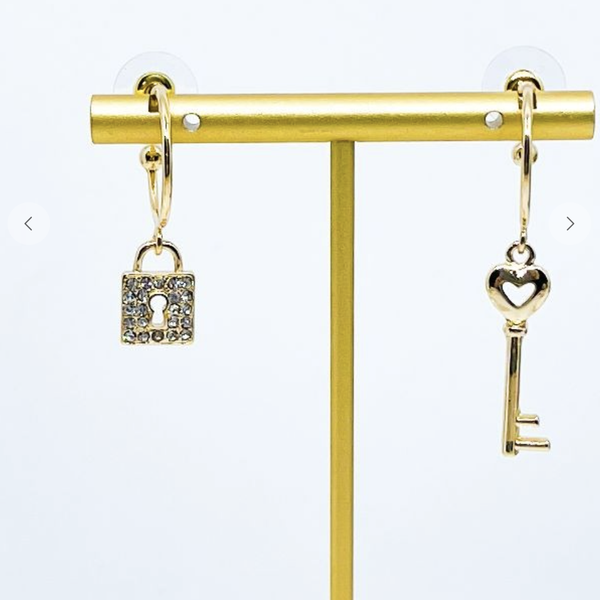 Lock And Key Mismatched Earrings