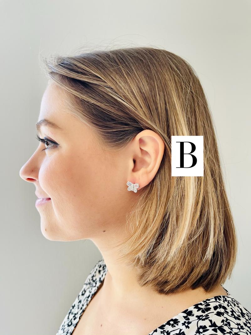 Fly Free Butterfly Stud Earrings