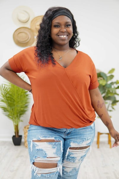 Sexy And Soft Surplice Top