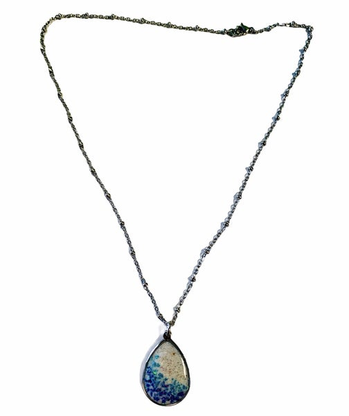 Crushed Opal Teardrop Necklace